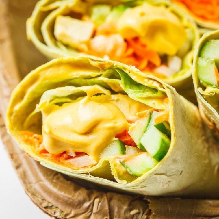Mexican Tortilla Roll Ups Vegan